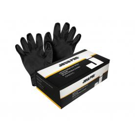 Перчатки нитриловые черные размер XL JETAPRO 100 шт