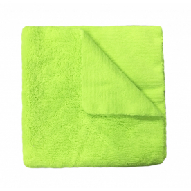 Микрофибра зеленая короткий/длинный ворс 420 гр/м (40х40см)