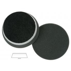 Полировальный диск поролон финишный Black finishing heavy duty orbital pad (with centre hole) 140*25