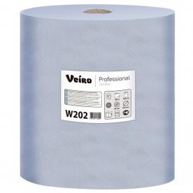 Протирочный материал в рулонах Veiro W202 двухслойный синий 1000листов