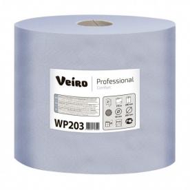 Протирочный материал в рулонах Veiro двухслойный синий 500 листов