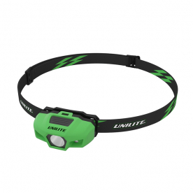 Спортивный налобный фонарь зеленый корпус 175 Lm 1xAA IPX6 UNILITE SPORT-H1-GREEN