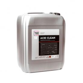 Очиститель неорганических загрязнений на минеральных кислотах 18 ACID CLEAN SmartOpen 5л 15185