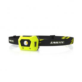 Легкий налобный фонарь 125 Lm 520 mAh IPX5 UNILITE HL-1R