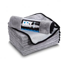 Протирочное полотенце из микрофибры Dry Monster с оверлоком 75x55см Серое TDT5575G