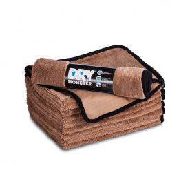 Протирочное полотенце из микрофибры Dry Monster с оверлоком 75x55см Коричневое TDT5575b