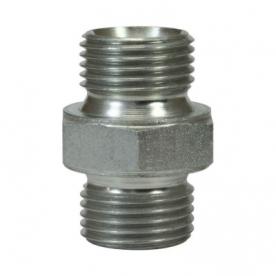 Переходник 1/2внеш-1/2внеш 500bar оцинкованая сталь R+M 57098