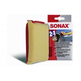 Универсальная мягкая губка для удаления насекомых двухсторонняя Sonax 426100