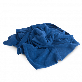Полотенце для сушки авто оверлоченое синее PROFI-MICROFASERTUCH Autech 400 гр/м2 55х80см Au-248