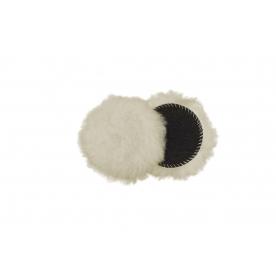 80 мм  средне режущий меховой круг SUPERFINE Merino из натуральной овчины, шерсть длиной 20 мм