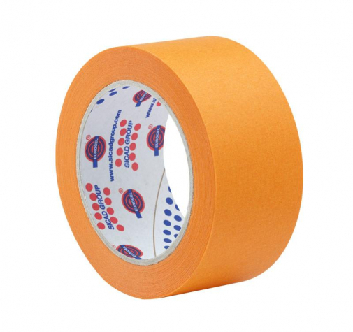 Лента маскирующая оранжевая Eurocel 19 мм х 45 м 80 Со - 30 мин