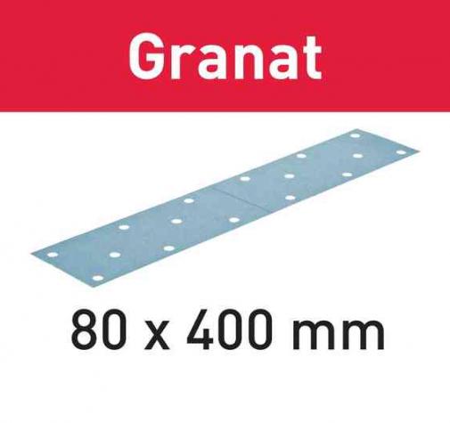 Шлифовальные листы STF 80x400 P180 GR/50 Granat