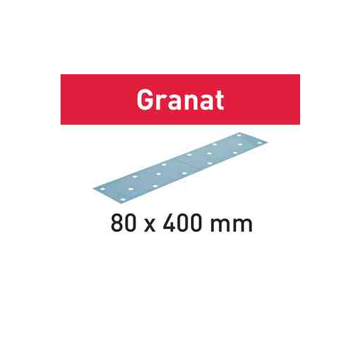 Шлифовальные листы STF 80x400 P80 GR/50 Granat