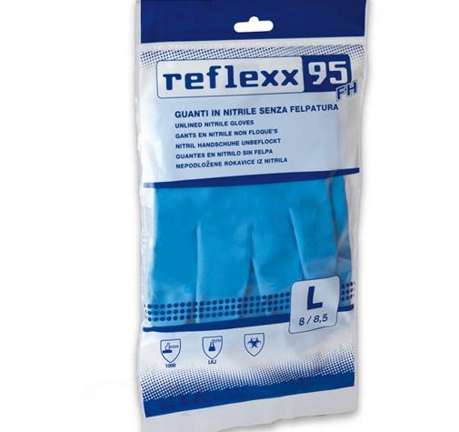 Многоразовые защитные перчатки нитриловые Reflexx 33см размер L R95-L