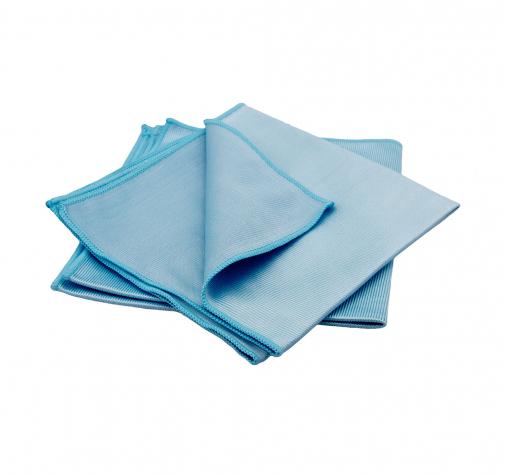 Серое полотенце с УЗ обреззкой из микрофибры 330g/²  40x40см (2шт в наборе)