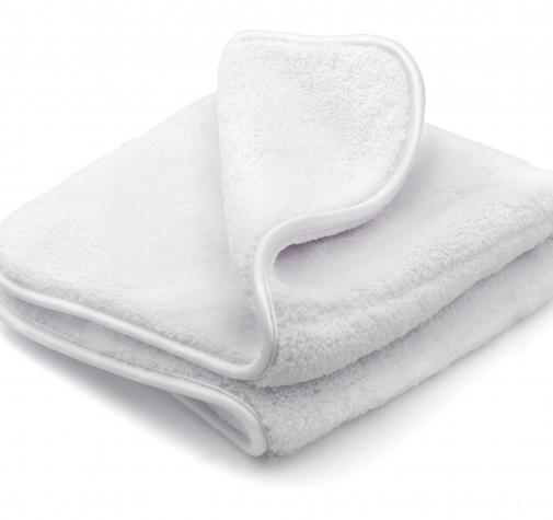 Белое супер плотное полотенце из микрофибры 1000g/M² размер 40x40 см (2 шт. в наборе)