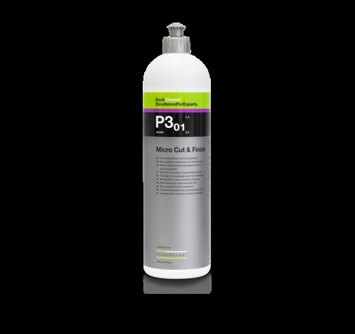 Антиголограммная полировальная паста с воском карнауба MICROCUT&FINISH P3.01 Koch Chemie 1л 404001