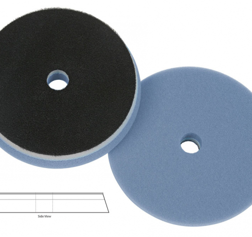 Полировальный диск поролон режущий Blue Cutting heavy duty orbital pad (with centre hole) 165*25mm