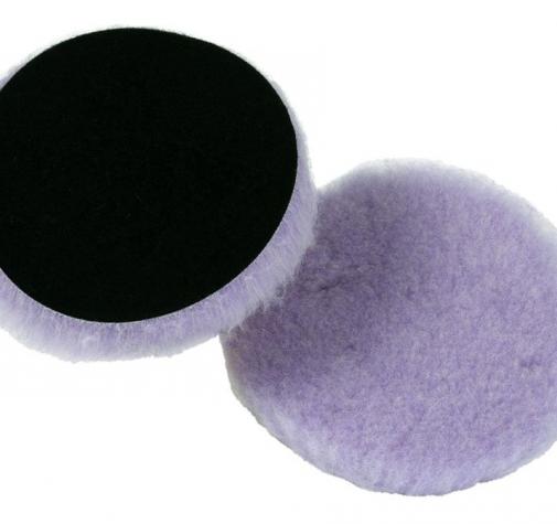 Полировальный диск меховой режущий Purple foam wool buffing/polishing pad 130*25