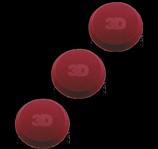 Аппликатор с закрытыми порами бордовый 3D  Applicator Red Foam 4.5' x 1' tapered edge - G-71R-3