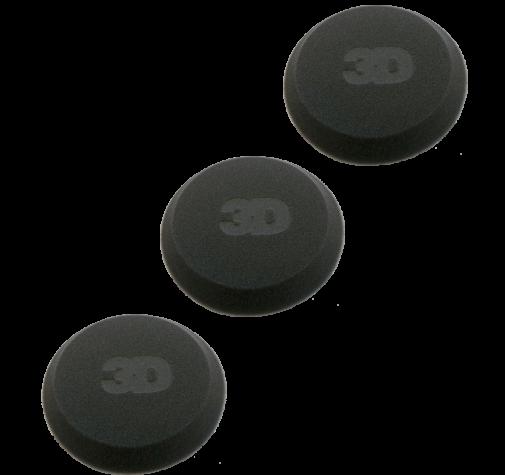 Аппликатор с закрытыми порами, черный 3D - Applicator Black Foam 4,5' x 1' tapered edge - G-70B-3