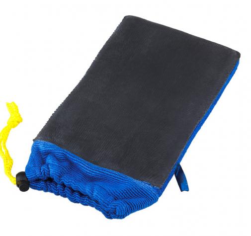СИНЯЯ рукавица двухсторонняя с полимерной глиной (автоскраб)