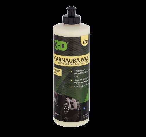 Карнаубский воск для глянца, блеска и защиты ЛКП 3D (0,47 л) - Carnauba Wax 908OZ16