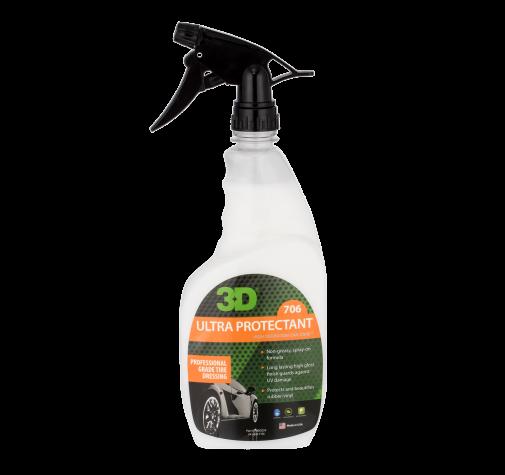 Спрей на водной основе для долговременной защиты шин 3D (0,71 л) - Ultra Protectant 706OZ24