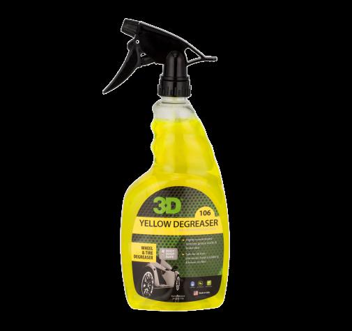 Удалитель тормозной пыли и жирных пятен c покрышек 0,71 л - 3D Yellow Degreaser