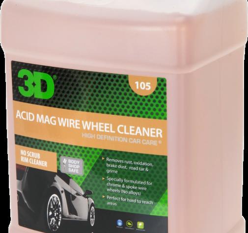 Очиститель для хромированных колес и труднодоступных мест (концентрат) 105G01 3,78 3D ACID MAG WIRE