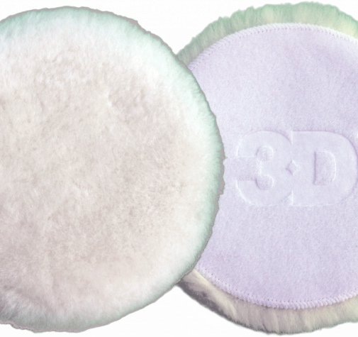 Шерстяной круг 3D - White Premium Lamb Wool pad 127mm K-WW5