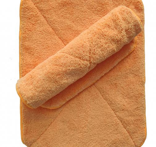 Микрофибра оранжевая с оверлоком 800 гр/см 30х40 см.