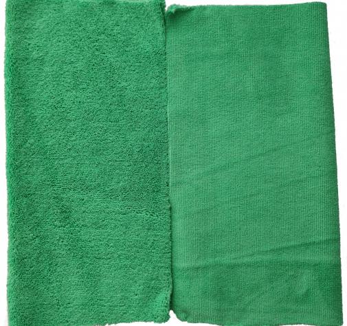Микрофибра двухсторонняя зеленая с УЗ обрезкой 400 гр/см 40х40 см