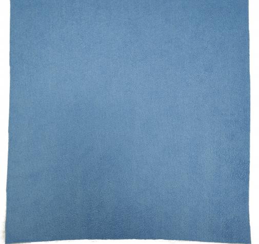 Микрофибра синяя с коротким ворсом 220г/м2 38смх38см