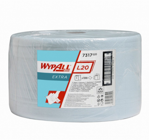 Протирочные салфетки KIMBERLY-CLARK 1000 отрывов 7317 WYPALL* L20 EXTRA+LR 2ply Blye N/A