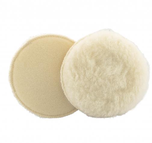 135 мм меховой полировальный круг Wool Bonnet  на липучке (Velcro)