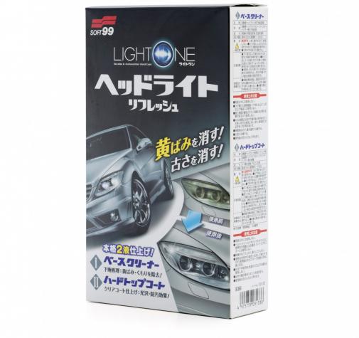 Покрытие для фар и прозрачного пластика Light One Soft99 50+8мл 03133