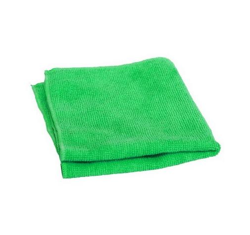 Микрофибра зеленая с коротким ворсом 220г/м2 38смх38см