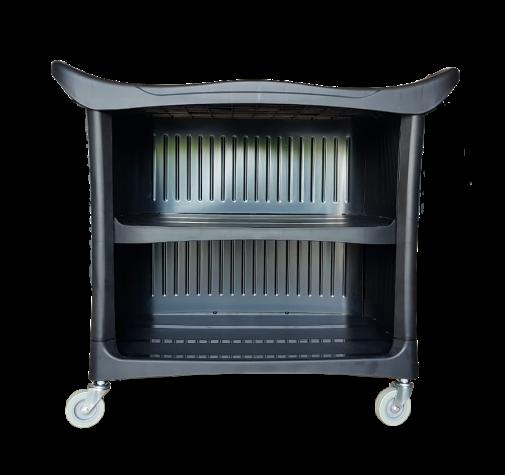 Пластиковый стол на колесиках с задней стенкой AuTech Au-08179B