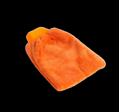 MICROFASER-REINIGUNGSHANDSCHUH  Оранжевая рукавица из микрофазера