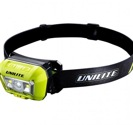 Налобный сенсорный фонарь 475Lm + 275Lm 1500mAh IP65 UNILITE HL-8R