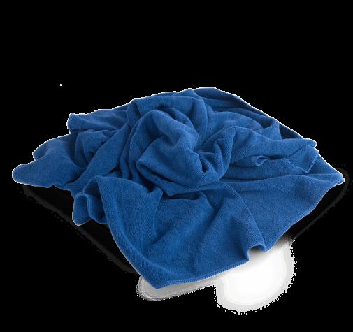 PROFI-MICROFASERTUCH полотенце оверлоченое 55*80 см, синее, 400 гр/м2 для сушки авто