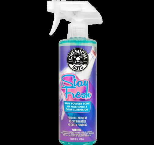 Stay Fresh Baby Powder Scented Premium Air Freshener and Odor Eliminator 473 мл