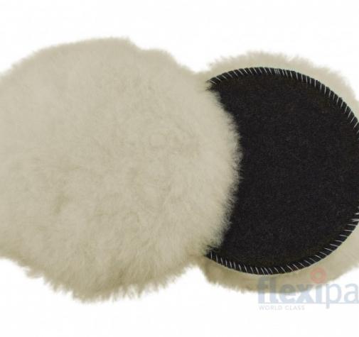 135 мм  средне режущий меховой круг SUPERFINE Merino из натуральной овчины, шерсть длиной 20 мм